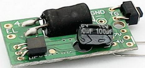 上图所示亮--灭el冷光驱动器      以上电路模块工作电压2v--5v
