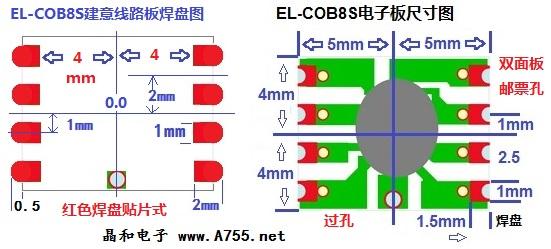 COB8S发光线驱动电源实例 EL-WIRE发光耳机产品说明 采用新技术设计进行处理,解决了杂音问题,高亮度,耗电少,电子板大小可按客人要求设计。 专为耳机音频发光线而设计,多种工作方式及发光方式,可按客人要求而设计(成品机)。(长亮及闪动,快闪) 特别说明: 焊接元件时 电烙铁选用20W35W 并良好接地, 电烙铁发热时用20V交流电压表 检测烙铁头 电压小于5V.