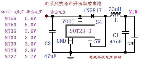 封装体积小:  sot23-3 (窄体) 三, 应用范围 mt 系列芯片适用于要